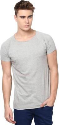 Unisopent Designs Solid Men's Round Neck Grey T-Shirt