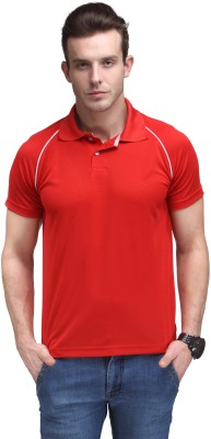 Alpha Male Solid Men's Polo Neck Red T-Shirt