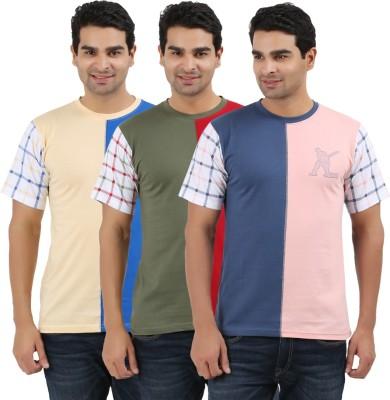 UV2 Printed Men's Round Neck Multicolor T-Shirt