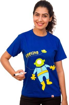 Witongo Graphic Print Women,s Round Neck T-Shirt
