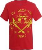 UFO Printed Men's Round Neck Red T-Shirt