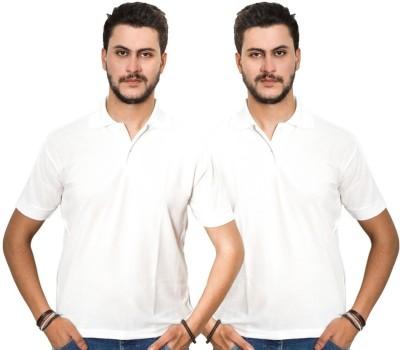 Dreamz Clothing Co Solid Men,s Polo Neck White, White T-Shirt