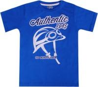 Joshua Tree Printed Boys Round Neck Blue T-Shirt