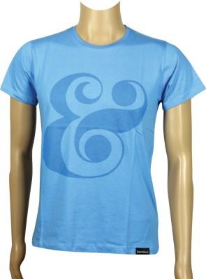 Sixthbase Printed Men's Round Neck Light Blue T-Shirt
