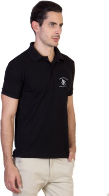 Green Wich United Polo Club Solid Men's Polo Neck Black T-Shirt
