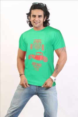 NSS Printed Men's Round Neck Green T-Shirt