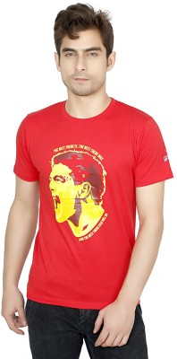 Funatic Sports Printed Men's Round Neck Red T-Shirt