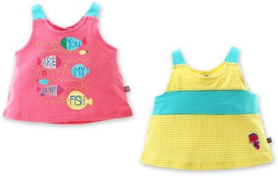 FS Mini Klub Embroidered Baby Girl's Round Neck Multicolor T-Shirt