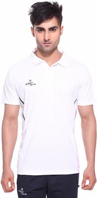 Sport Sun Solid Men's Polo Neck White T-Shirt