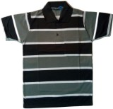 nakoda diksha Striped Men's Polo Neck Mu...