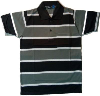 nakoda diksha Striped Men's Polo Neck Multicolor T-Shirt
