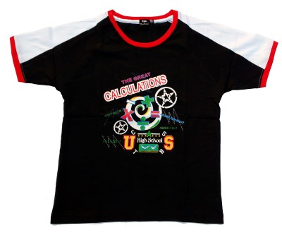 Fashion Galaxy Geometric Print Boy's Polo Neck T-Shirt