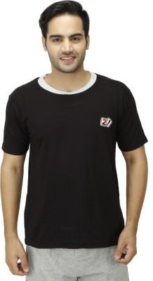 1OAK Solid Men's Round Neck Black T-Shirt