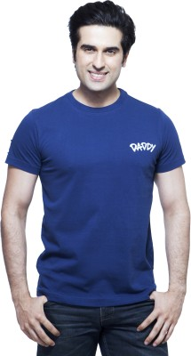 Daddy's Capes Printed Men's Round Neck Dark Blue T-Shirt