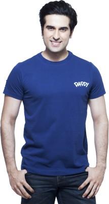 Daddy's Capes Printed Men's Round Neck Dark Blue T-Shirt