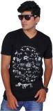 A1 Tees Printed Men's Round Neck Black T...