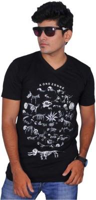 A1 Tees Printed Men's Round Neck Black T-Shirt