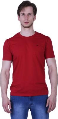 Duke Stardust Solid Men's Round Neck Red T-Shirt