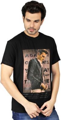Riot Jeans Graphic Print Men's Round Neck Black T-Shirt