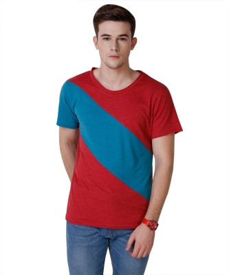 Yepme Solid Men's Round Neck Red, Blue T-Shirt