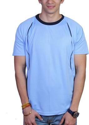 EPG Solid Men's Round Neck Light Blue T-Shirt