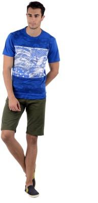 Keywest Graphic Print Men's Round Neck Blue, White T-Shirt