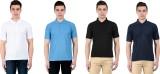 Vestiario Solid Men's Polo Neck Multicol...