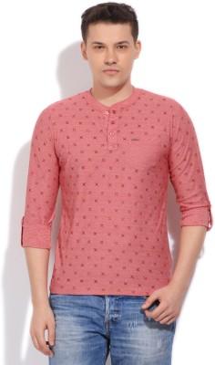 Killer Printed Men's Henley Pink T-Shirt