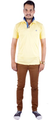 Shahanshah Enterprises Solid Men's Polo Yellow T-Shirt