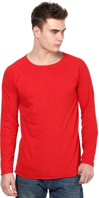 Unisopent Designs Solid Men's Round Neck Red T-Shirt