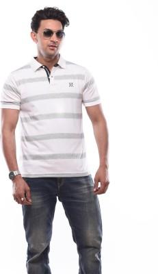SHAYAN EXPORT Printed Men's Flap Collar Neck White T-Shirt