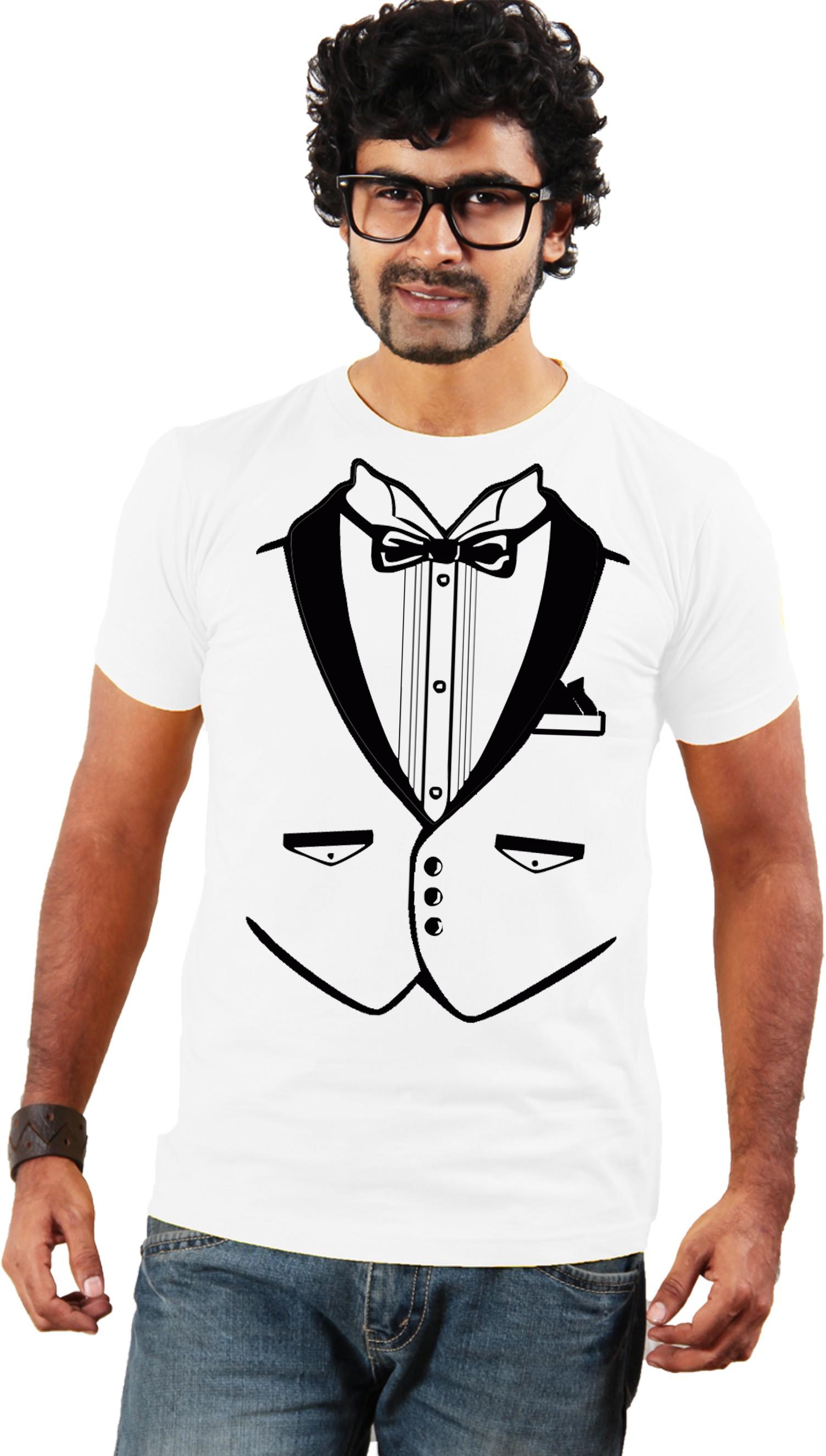 Shopping Monster Graphic Print Men's Round Neck T-Shirt