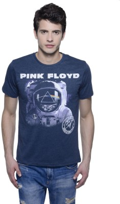 Pink Floyd Printed Men's Round Neck Blue T-Shirt