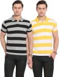 Duke Solid Men's Polo Neck Yellow, Black...