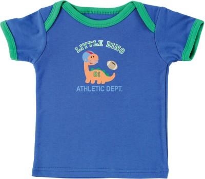 Luvable Friends Graphic Print Baby Boy's Round Neck Dark Blue T-Shirt