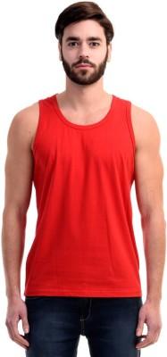 Mimoda Solid Men's Round Neck Red T-Shirt