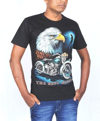 Rock Eagle Printed Men's Round Neck T-Shirt