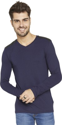 Globus Solid Men,s V-neck Blue T-Shirt