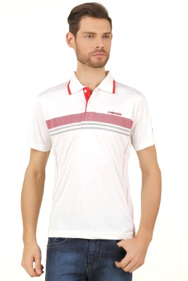 Head Solid Men's Polo White T-Shirt
