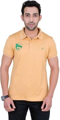 Fabnavitas Embroidered Men's Polo Neck Beige T-Shirt