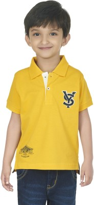 SuperYoung Solid Boy's Polo Yellow T-Shirt