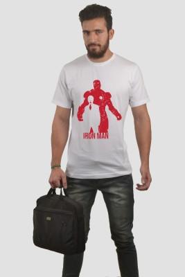 Abuse Printed Men's Round Neck White T-Shirt