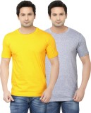 Ben Carter Solid Men's Round Neck Yellow...