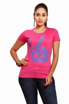 Yaari V4c Self Design Women's Round Neck T-Shirt