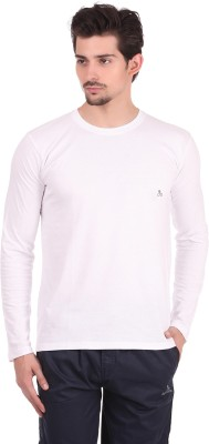 Bahamas Solid Men's Round Neck White T-Shirt