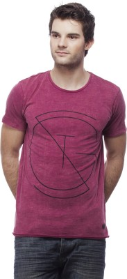 St. Goliath Solid Men's Round Neck Maroon T-Shirt