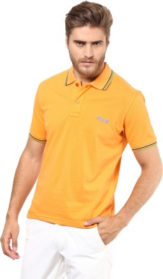 FUNK Solid Men's Polo Neck Orange T-Shirt
