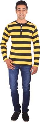 DG Striped Men's Henley Multicolor T-Shirt