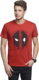 Deadpool Printed Men's Round Neck Red T-...