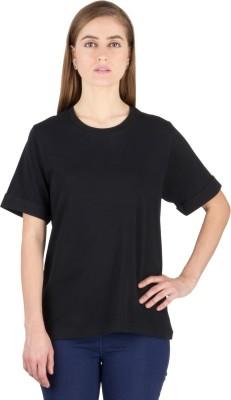Hypernation Solid Men's Round Neck Black T-Shirt